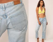 Tommy Jeans TOMMY HILFIGER Flared Jeans 90s Jeans Bootcut Jean Denim Pants Bell Bottom Vintage Hipster Streetwear Faded Blue Medium