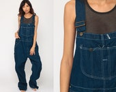 Bib Overalls Men's Denim Overalls Pants Jeans 90s Grunge Pants Wide Leg Baggy Blue Long Dungarees Vintage Sears Roebucks Extra Large xl