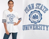Penn State University Shirt 80s Tee Shirt Pennsylvania Shirt Vintage Tshirt PSU Graphic Retro College T Shirt Sports Medium Large