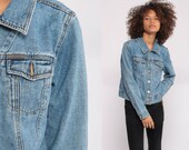 Calvin Klein Jean Jacket 90s Denim Jacket Jean Jacket Grunge Biker CK Vintage Button Up Hipster Blue Trucker Extra Small xs