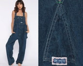 Big Smith Overalls Pants -- Bib Overall 90s Denim Jean Dungarees Wide Leg Baggy Coveralls Vintage Grunge Hipster Carpenter Extra Large xl l