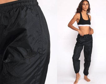 d997baa8f915 Nike Track Pants 90s Joggers Baggy Jogging Track Suit Warm Up Suit Black  Athletic Pants Sports Vintage Retro Hipster Extra Small xs