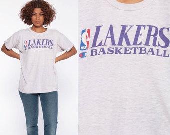 ed865e682d Los Angeles Lakers Shirt Basketball T Shirt LA Lakers Champion 90s TShirt  Sports Vintage 1990s Retro Tee California Graphic Small Medium