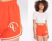 Jogging Shorts OKLAHOMA STATE UNIVERSITY Hotpants Osu 80s Running Gym Colleget High Waist Retro Joggers Sports Vintage Orange Extra Small xs