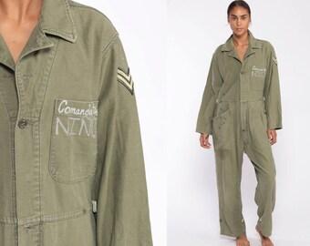 ff9e2d5052f7 Comandante Niño Costume Army Coveralls Flight Suit Military Jumpsuit Drug  Lord Pantsuit Vintage Long Sleeve Romper Olive Green Medium Large