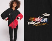 NASCAR Jacket Race Cars Jacket 90s Windbreaker Jacket Color Block Red Black Racing Sports Coat 1990s Vintage Motorsport Extra Large xl 2xl