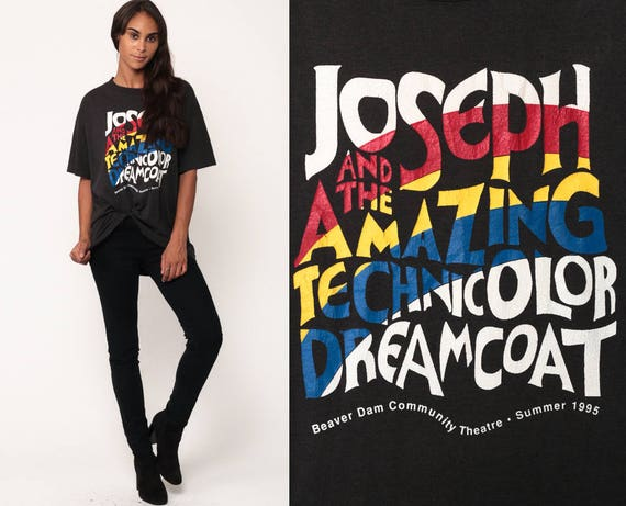Musical Shirt JOSEPH And The Amazing TECHNICOLOR DREAMCOAT Shirt 90s Vintage Broadway Graphic T Shirt 1995 Retro Graphic Extra Large xl