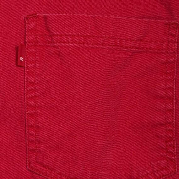 LEVIS Shirt Red 90s Button Down Shirt up Levi Jea… - image 6
