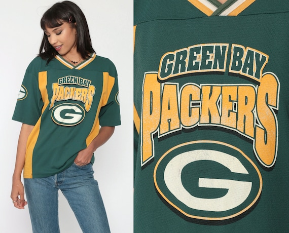 Green Bay Packers Jersey Shirt 80s NFL Throwback Jersey Football Jersey Vintage Tshirt Scrimmage Wisconsin Sports Small Medium