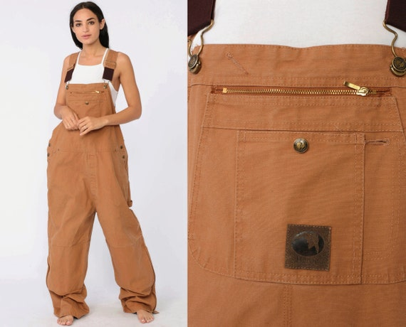 Berne Work Overalls 46 x 28 Baggy Pants Cargo Dungarees Pants 90s Long Wide Leg Jeans Bib Workwear Vintage Work Wear Extra Large xl