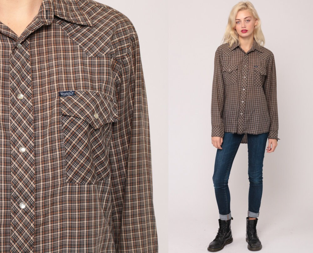 Vintage Western Shirts With Snaps