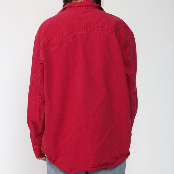 LEVIS Shirt Red 90s Button Down Shirt up Levi Jea… - image 8