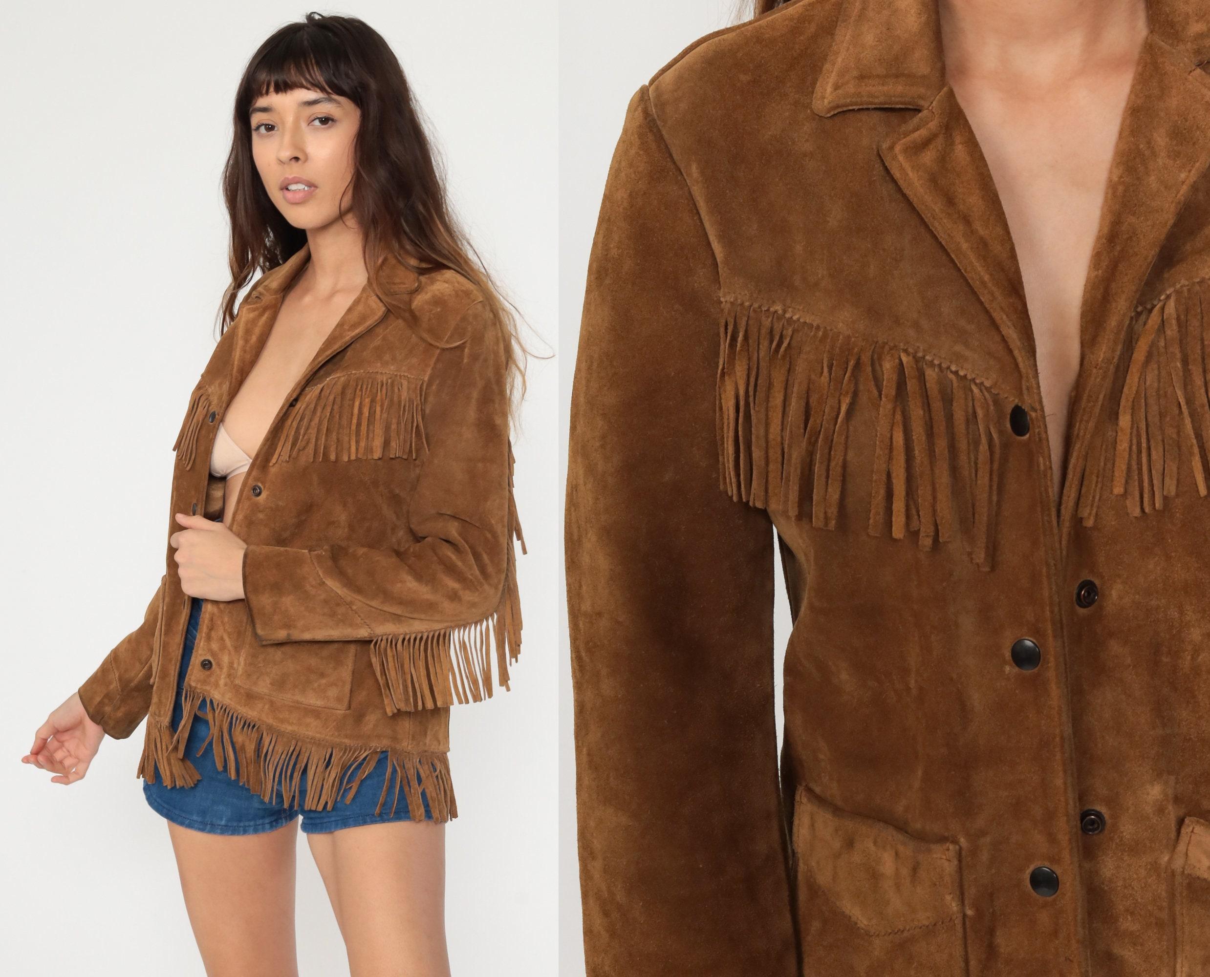 Leather Fringe Jacket,Black Suede Jacket,Boho Fringe Coat,Bohemian Blazer Jacket,Festival Jacket,Hippie Coat,Hippy,70s Coat,leather fringe
