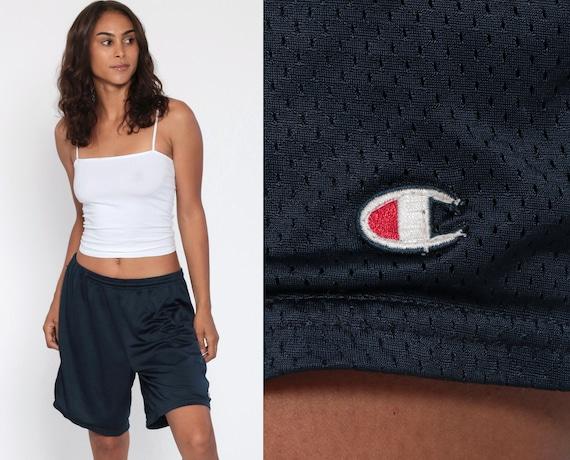 Champion Shorts 90s Navy Basketball Shorts Blue Streetwear Running Shorts Gym Sweat Shorts Basketball Retro Jogging Shorts Medium Large