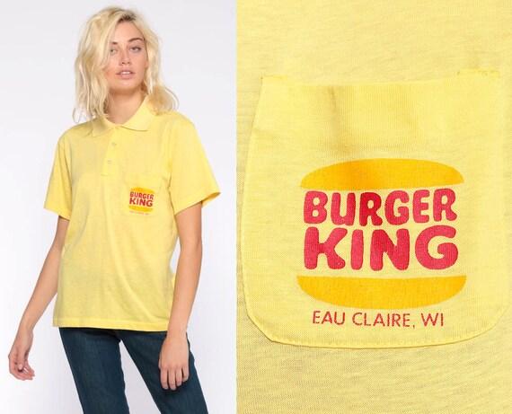 961fa945aa117 ... Burger King Uniform Shirt Fast Food Retro Polo Shirt 80s Etsy