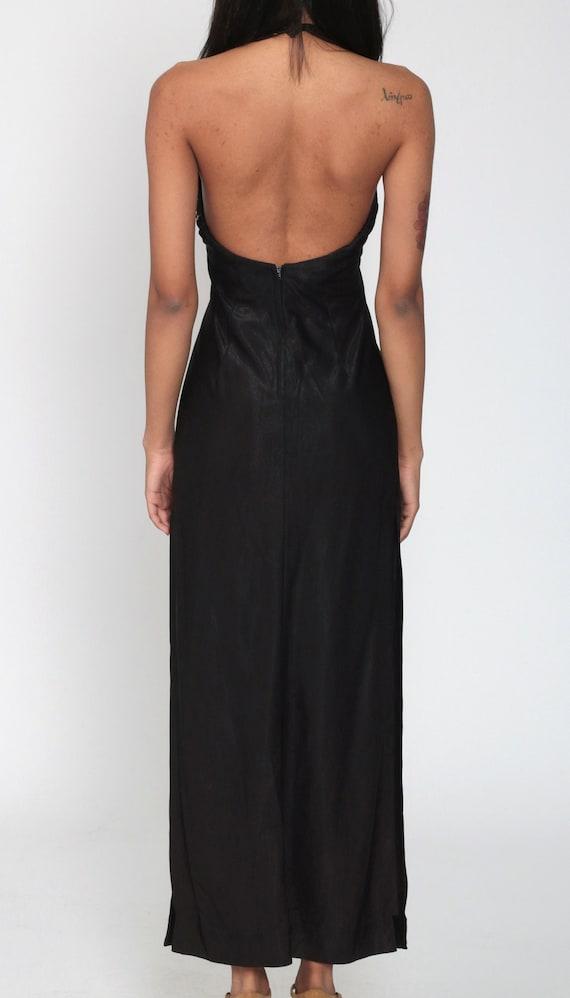 Black Party Dress 70s Choker Dress Cut Out Dress … - image 7