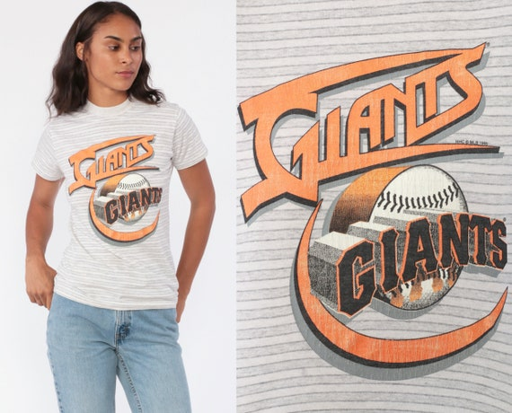 San Francisco Giants Shirt 90s Tunes Shirt MLB Tshirt Baseball Striped Shirt 1990s T Shirt Graphic Vintage Bay Area Extra Small xs