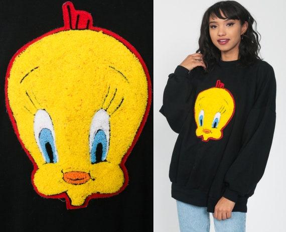 Tweety Bird Sweatshirt xxl Looney Tunes Shirt 90s Cartoon Animal Top Graphic Retro 1993 Vintage Slouchy Extra Large xl 2xl