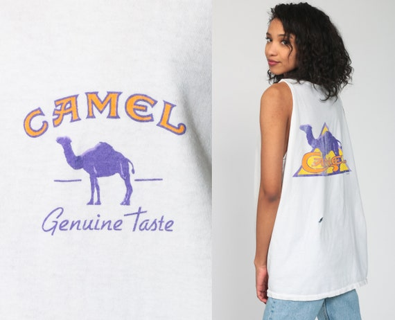Camel Joe Cigarette Shirt Cigarette Tank Top 90s S