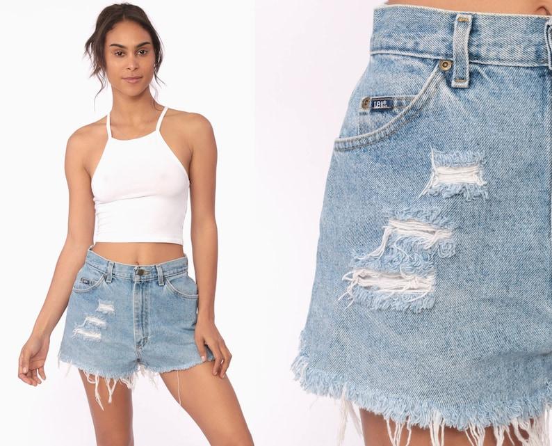 c2fb008e1 Cut Off Shorts 28 80s Denim Shorts LEE Jeans Distressed Cutoff | Etsy