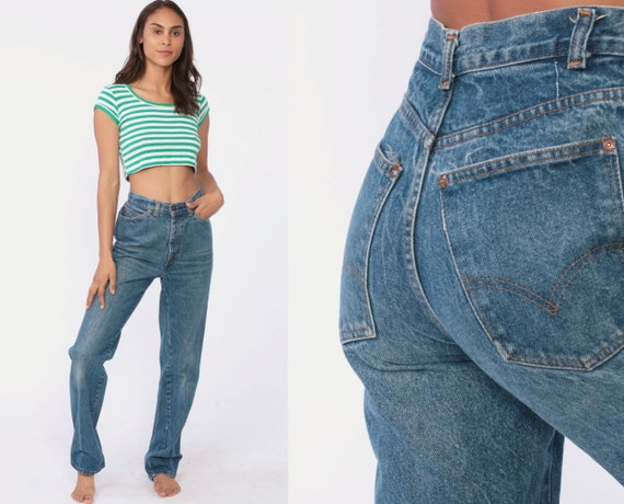 90s Levis Mom Jeans xs -- High Waist Jeans 1990s Jeans Blue Jeans Levi 80s Denim Boyfriend Pants Vintage Extra Small xs 2