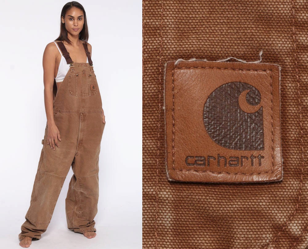 13a857c7e5 Carhartt Overalls Workwear -- Coveralls 90s Baggy Pants Flannel ...