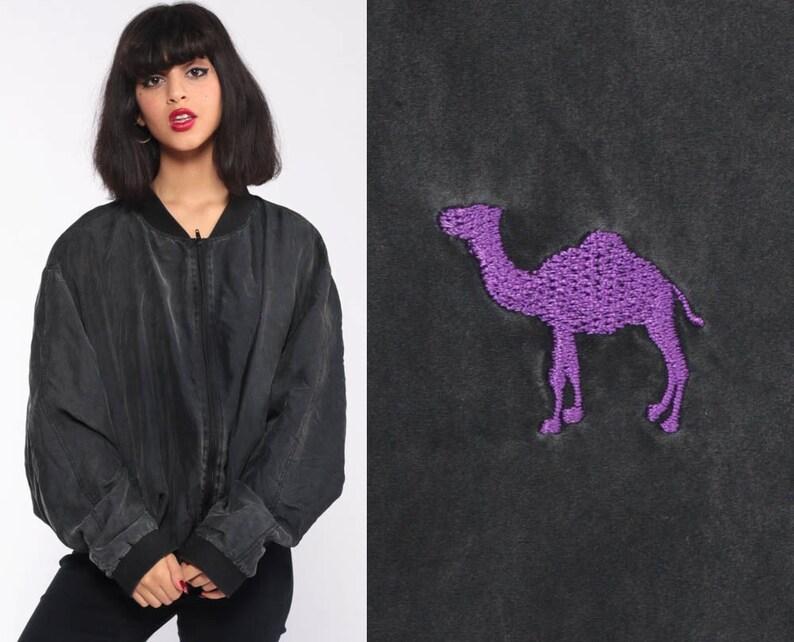 43d596a97a9 Silk Camel Joe Jacket 90s Camel Cigarettes Jacket Bomber