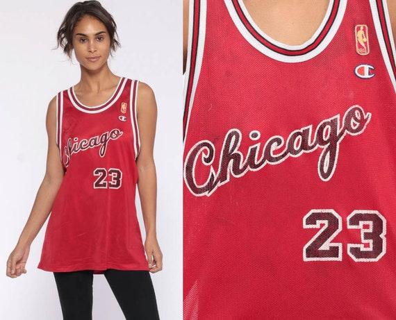 Michael Jordan Jersey Chicago Bulls Shirt Basketball Jersey 23 Retro Sports Throwback Champion 90s Number Vintage Nba 1990s Medium Large