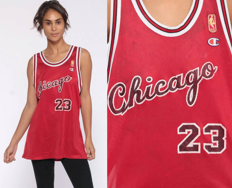new products 450b9 2fd7c Michael Jordan Jersey Chicago Bulls Shirt Basketball Jersey 23 Retro Sports  Throwback Champion 90s Number Vintage Nba 1990s Medium Large