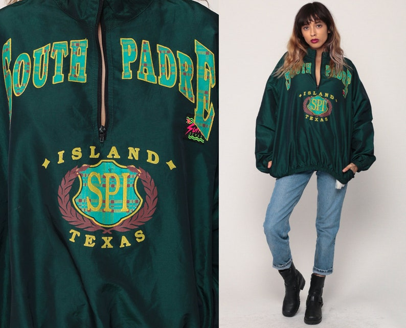 7e2393387a0b 90s Windbreaker Jacket SOUTH PADRE ISLAND Jacket Texas