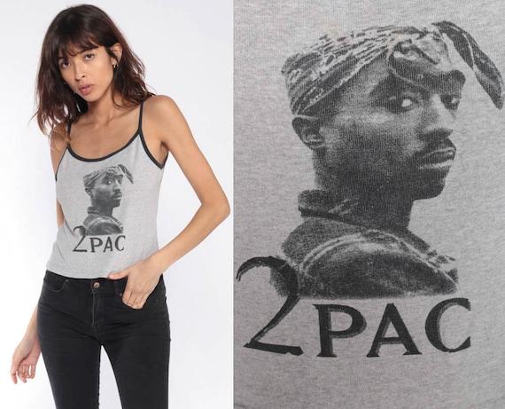 Vintage 2Pac Shirt -- 90s Tupac Tank Top Rap Band Shirt 2 Pac Shirt 1990s Throwback Band Tee Genuine Concert Shirt Large