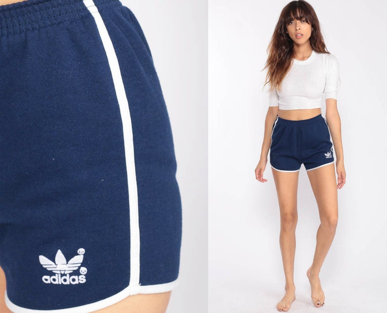 048a01bbb518 Adidas Shorts 80s Gym Shorts Blue Running Shorts Retro Striped