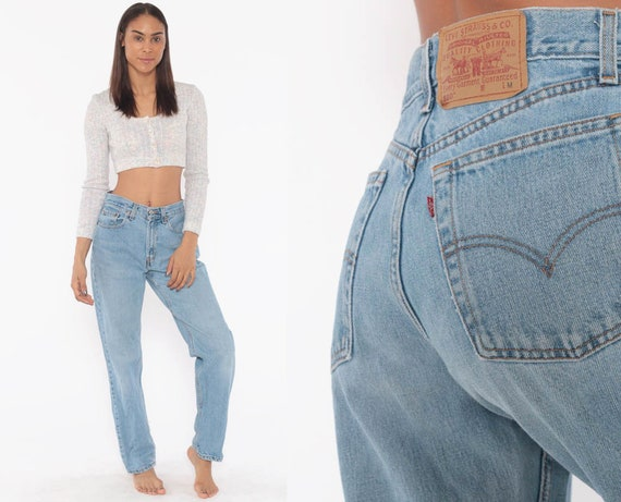 Levis Mom Jeans 28 -- High Waist Jeans 80s Jeans Blue Jeans Levi High Waist Denim Pants 560 Straight Leg 1980s Vintage Small 28 6