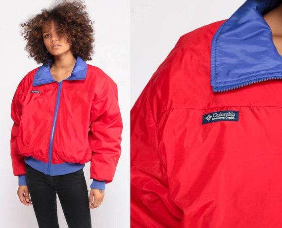 Columbia Jacket REVERSIBLE Jacket Red Purple Athletic Hiking Gear Windbreaker Jacket Vintage Jacket Medium Large