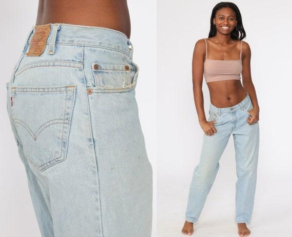 Levis Mom Jeans 30 -- 560 High Waisted Jeans 80s Jeans Faded Blue Jeans Levi High Waist Denim Pants Straight Leg 1980s Vintage Medium