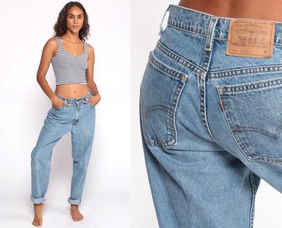 Levis 951 Jeans  -- 80s Levis Mom Jeans High Waist Levi Blue Jeans 90s Jeans Denim Pants 951 Vintage Blue Denim Levi Strauss Medium 29 8