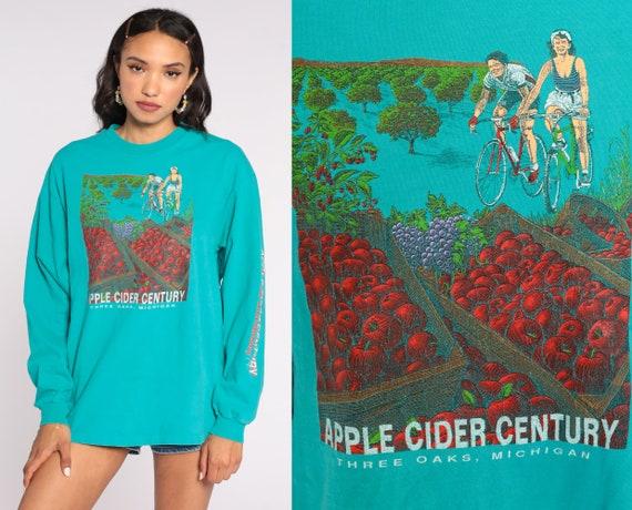 1993 Apple Cider Century Shirt -- Three Oaks Michigan Shirt Cycling Tshirt 90s Bike Tour Shirt Graphic Tee Bicycle Shirt Large xl l