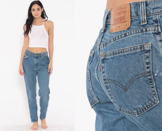 Levis 551 Jeans 30 -- Mom Jeans Light Blue 90s Denim Pants Tapered Slim Jean Pants Levis Strauss 80s Red Tab Medium 30