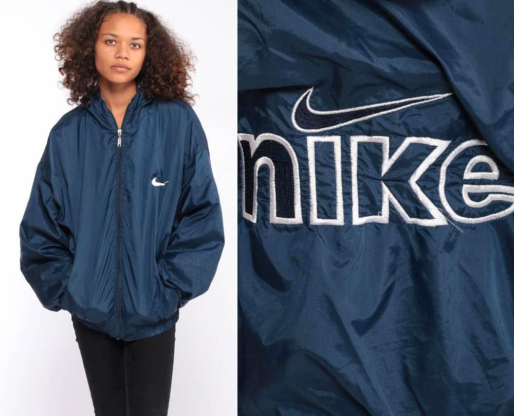 nike windbreaker jacket blue
