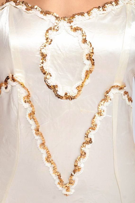 Sequin Leotard Women Bodysuit Dance Costume Satin… - image 5