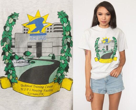 USPS Tshirt 90s Norman Oklahoma Shirt Training Center Post Office Graphic Shirt Retro Tee Vintage Small Medium