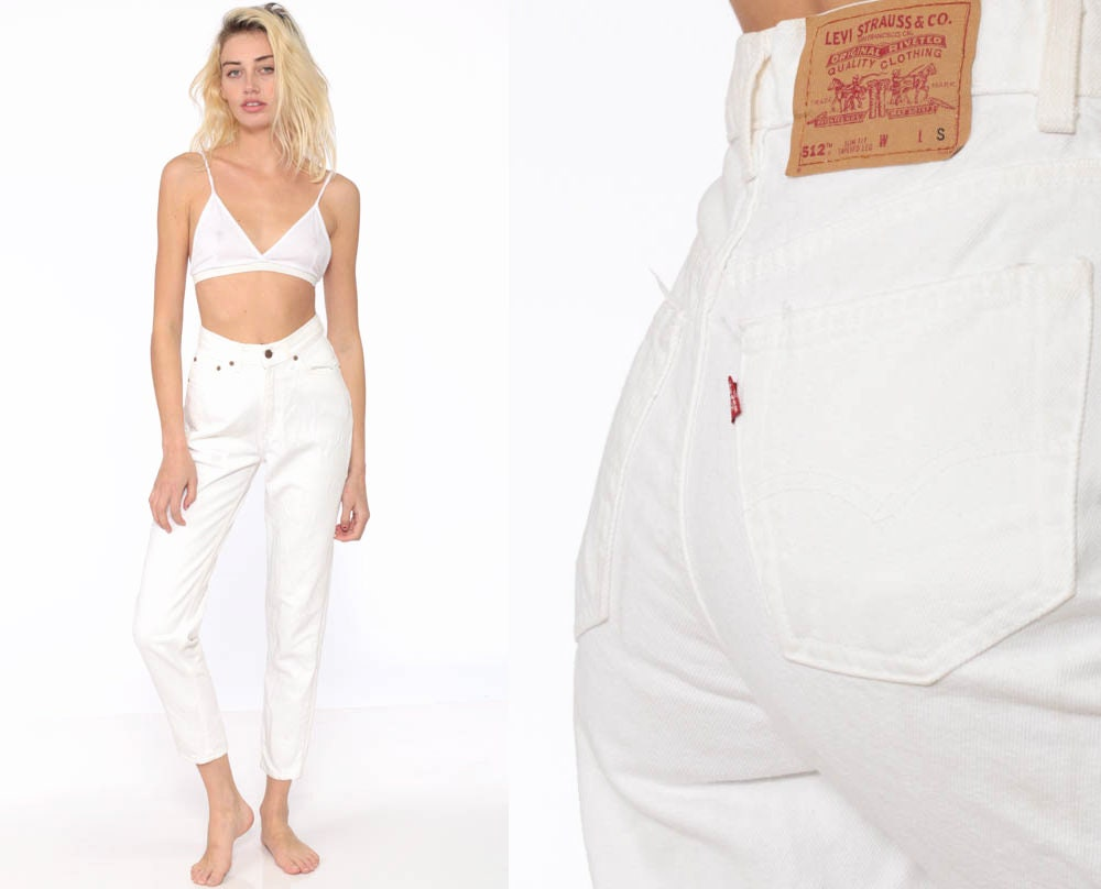 1f0867ac989cd White Levis Jeans Mom Jeans High Waist Levi Jeans 80s Jeans ...