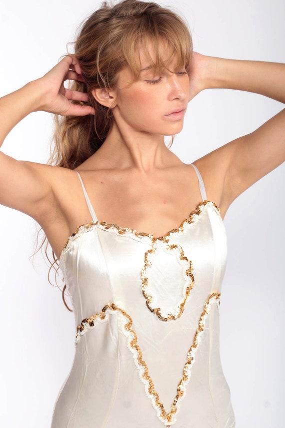 Sequin Leotard Women Bodysuit Dance Costume Satin… - image 2