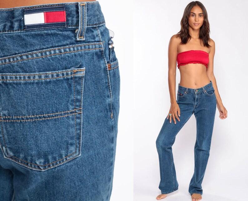 42c985ee1 Tommy Jeans Boyfriend TOMMY HILFIGER Denim Pants Straight Leg | Etsy