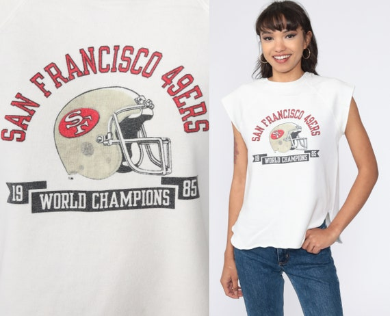 49ers Shirt 1985 San Francisco Sweatshirt Short Sleeve Muscle Tee NFL Shirt California Football Graphic Champion Vintage Small