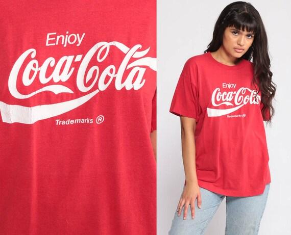 9795d219702 Coke T Shirt ENJOY COCA COLA T Shirt 80s Soda Pop Graphic