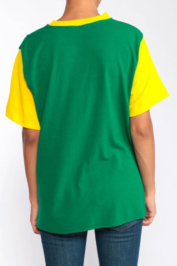 6ff58d235bf6 ... Ringer 80 Tee Shirt vert chemise Uni TShirt des années 80 Ringer T  Shirt Hipster rétro