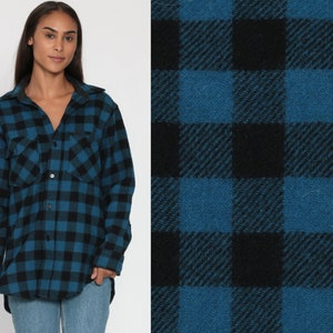 Green Plaid Shirt 80s Grunge Flannel Button Down 1980s Vintage Long Sleeve Lumberjack Checkered Retro Extra Small xs