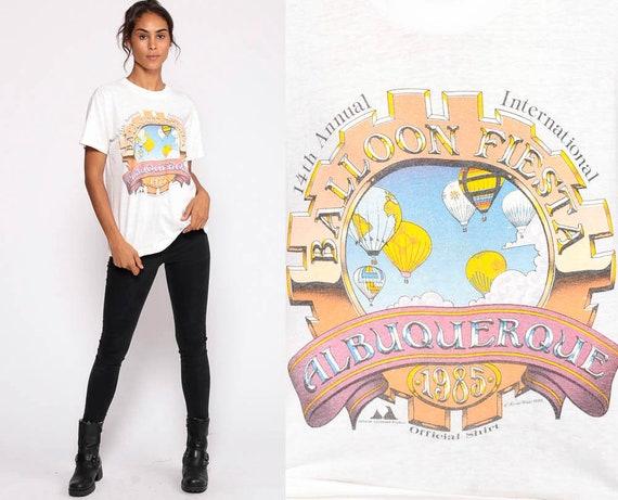 Albuquerque T Shirt 1985 BALLOON FIESTA New Mexico Shirt Hot Air Balloon Tee 80s Burnout Tshirt Thin Vintage Retro 1980s Graphic Medium