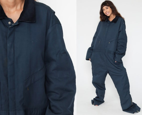 Walls Coverall Jumpsuit 90s Pants Workwear WALLS Blizzard Pruf Insulated Long Pants Work Wear Blue Vintage 1990s Men's Extra Large xl Tall